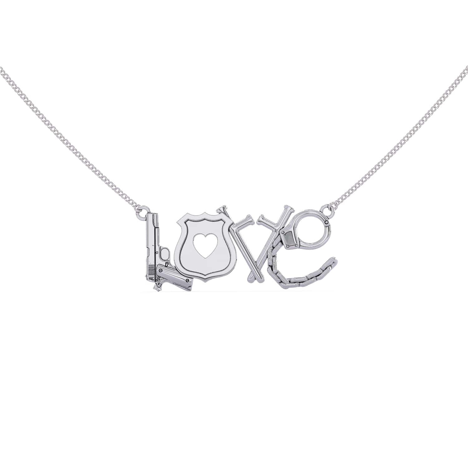 LOVE - Police Necklace