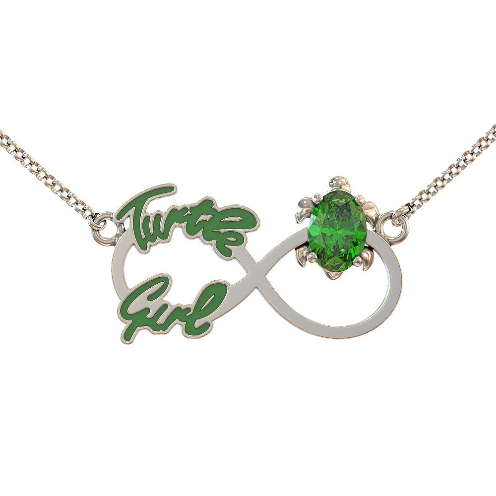 Infinity Turtle Girl Necklace