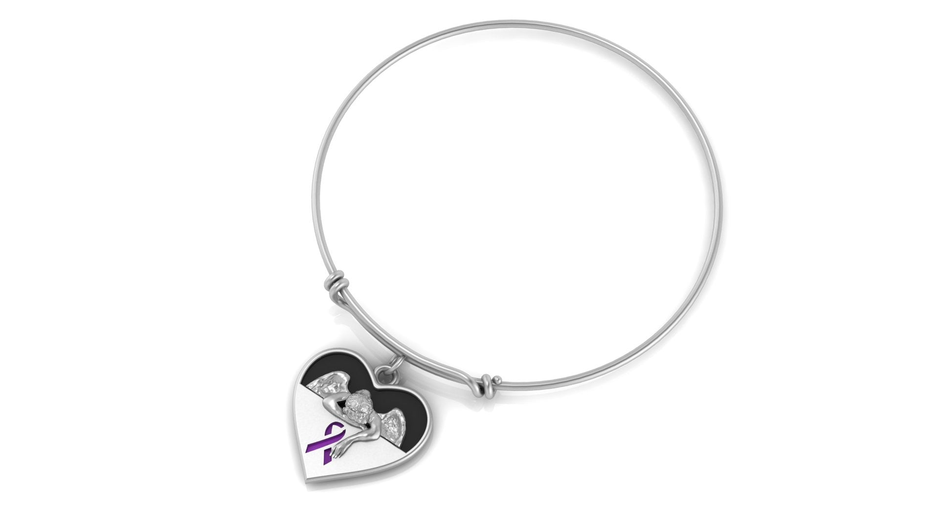 Alzheimer's Awareness Angel and Purple Ribbon