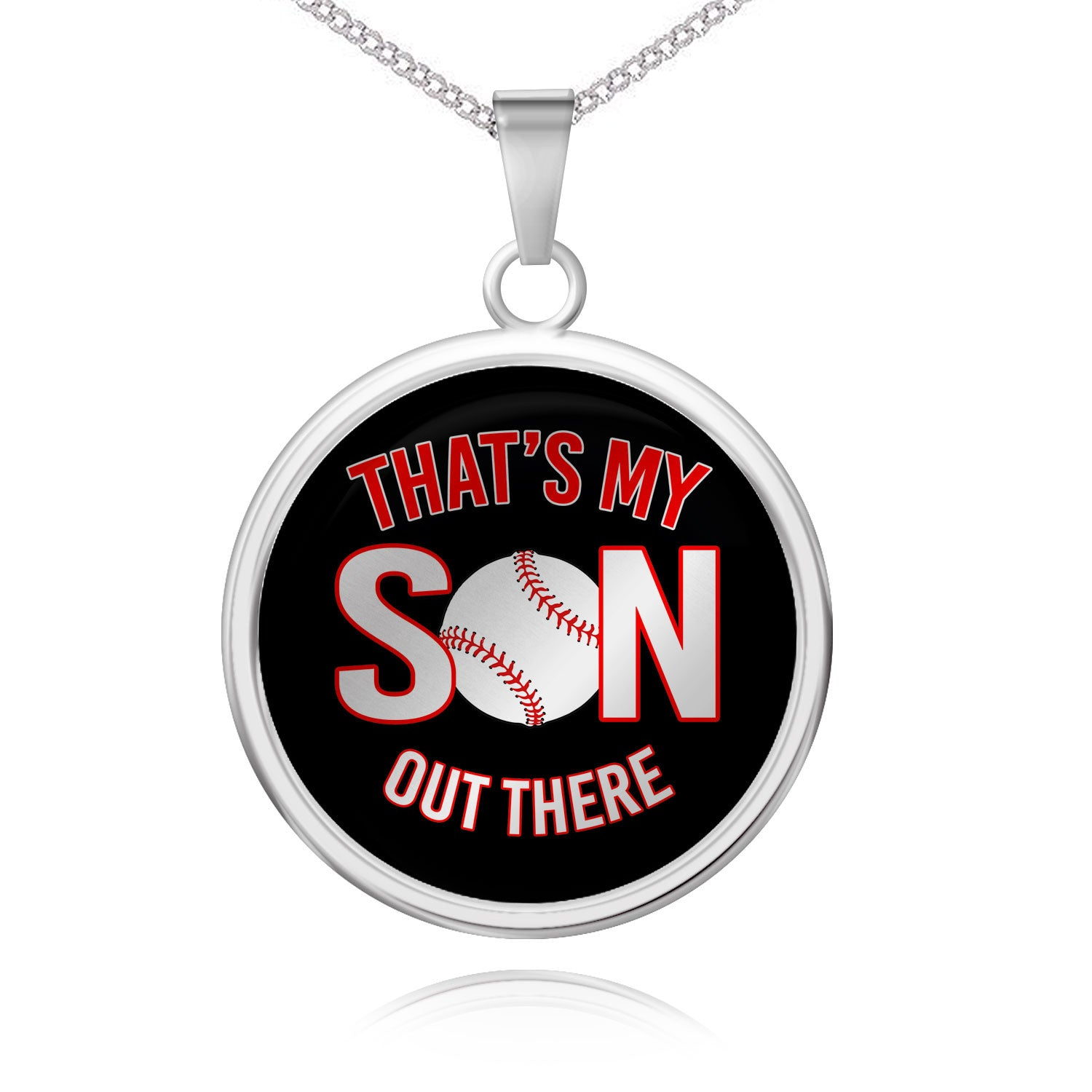 My Son Baseball Pendant