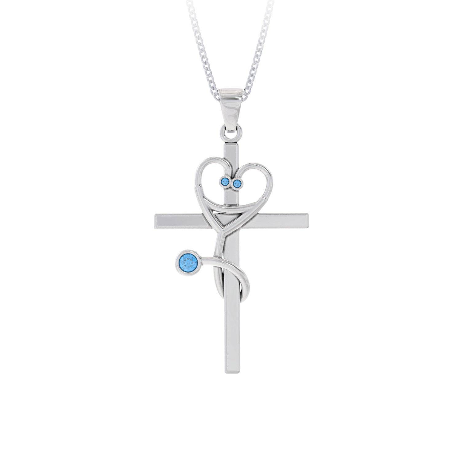 Stethoscope Cross Birthstone Pendant - LIMITED EDITION