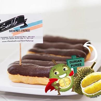 Mini Durian Eclairs (Box of 6 Pieces)