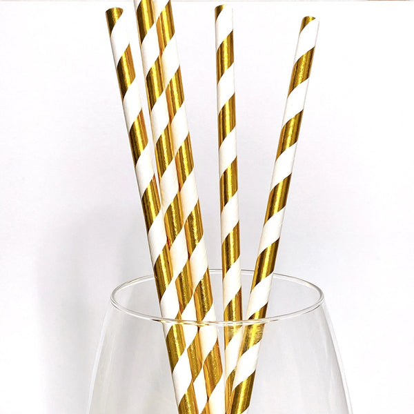 Gold Foil Paper Straw Topper