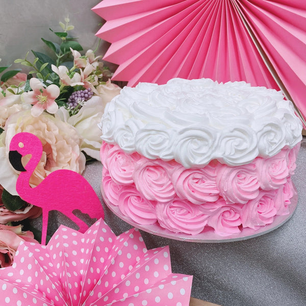 Pink Ombre Rosette Cake / Baby Smash Cake