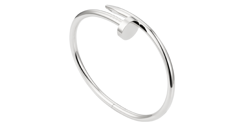 "Juste Un Clou ""Nail"" Bracelet, White Gold, size 15 (with papers)"
