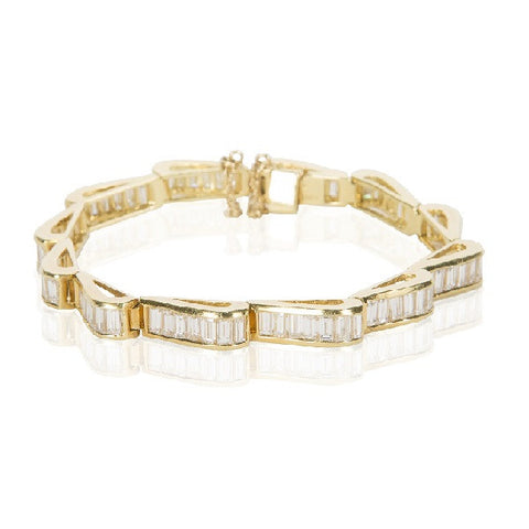 Undulating Diamond & Gold Bracelet