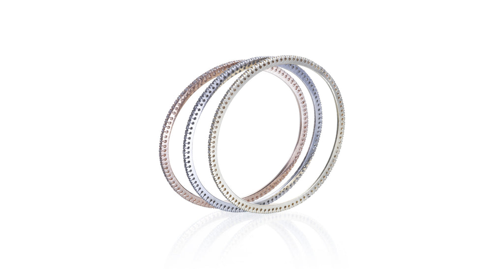 Estate 3-Tone Set of Bangle Bracelets