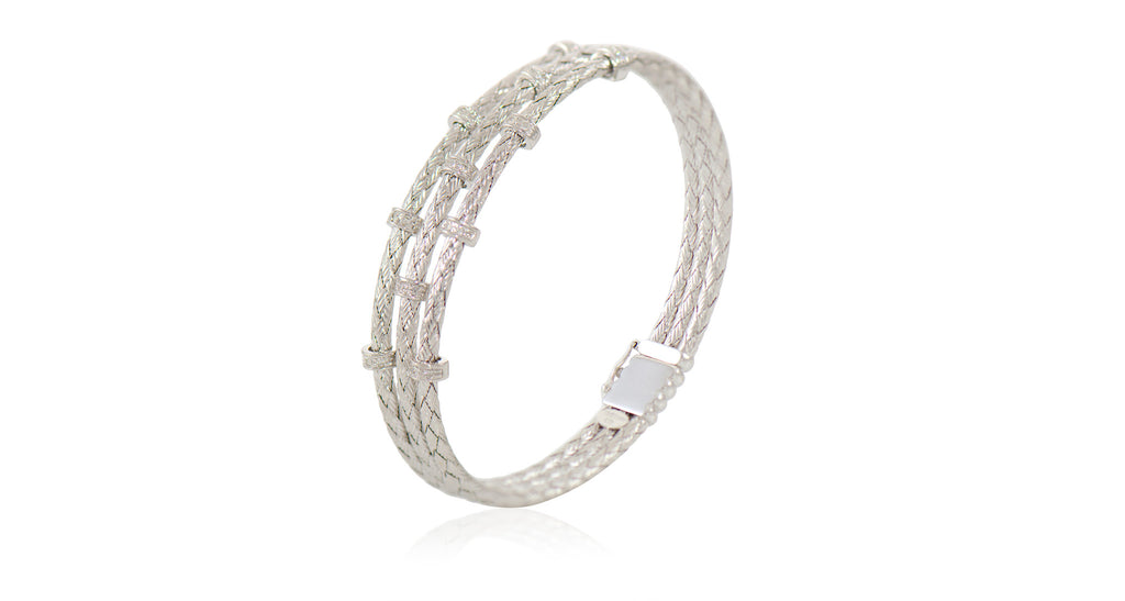 Italian White Gold & Diamond Bracelet