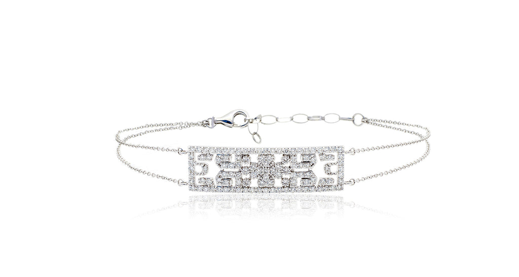 Diamond Motif Chain Bracelet