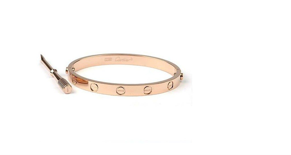 LOVE Bracelet Rose Gold, size 18 (with papers)