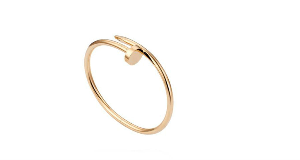 "Juste Un Clou ""Nail"" Bracelet, Yellow Gold, size 18 (with papers)"
