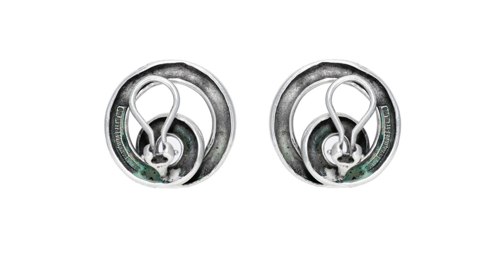 Silver Swirl Coiled Earrings
