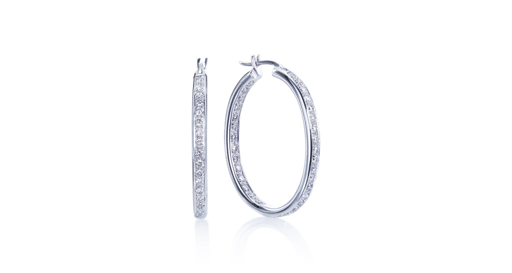 Eloquence Diamond Hoop Earrings