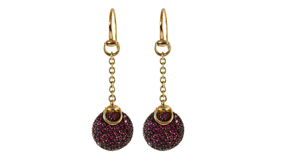 Gucci Ruby 18K Yellow Gold Earrings