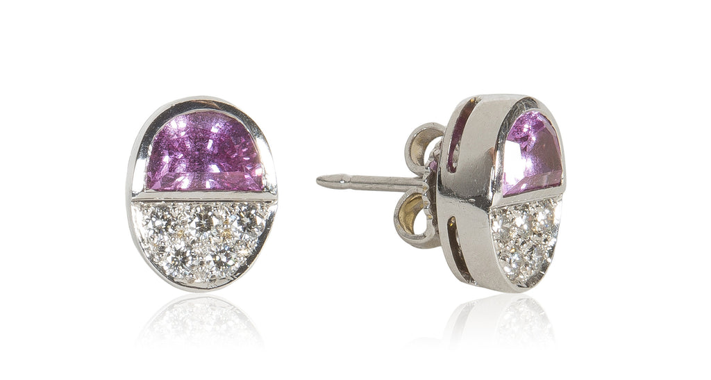 Platinum Diamond & Sapphire Earrings