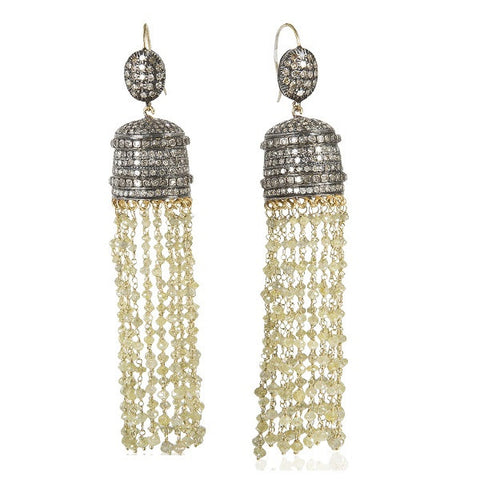Spectacular Diamond Sautoir Tassel Earrings