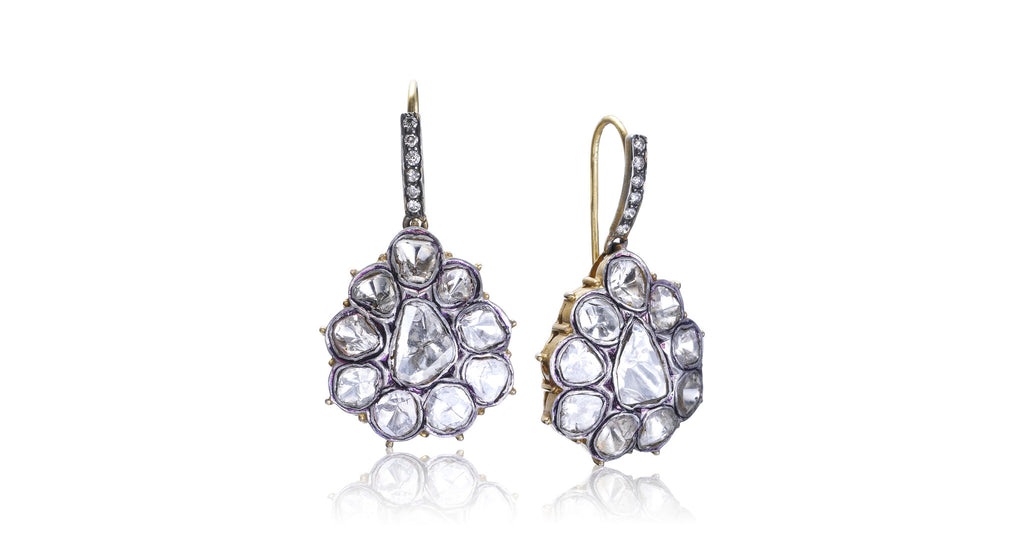 Estate Antique Raw Diamond Earrings