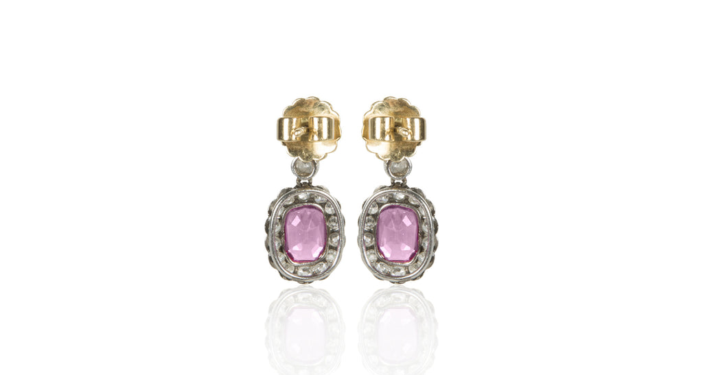 Victorian Gubelin Certified Burmese Ruby & Diamond Earrings