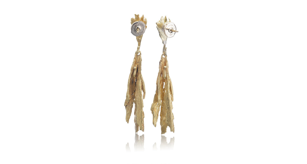 Gold 'Bark' Earrings