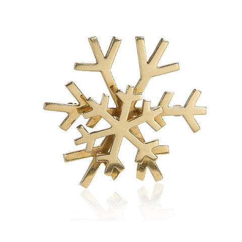 Vintage Golden Snowflake Pin