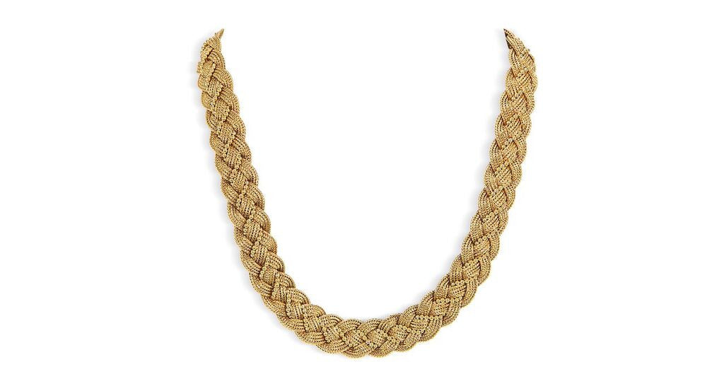 Antique Gold Braided Necklace