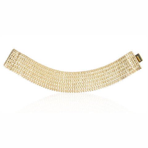 Wide Gilt Collar Necklace; See Costume Jewelry for Houte Couture, Florence Muller, p 111; Circa 1960