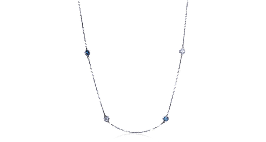 Eloquence Blue & White 'Diamonds By The Yard' Necklace