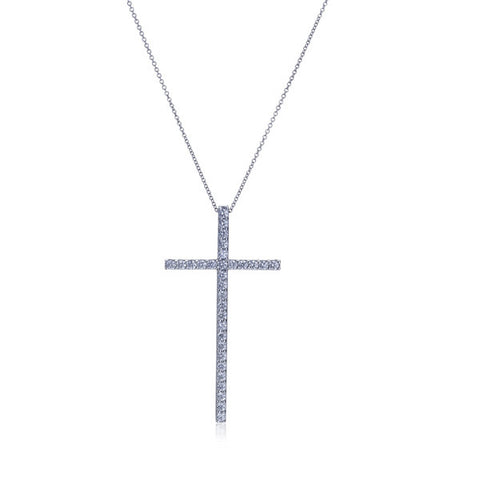 Eloquence Diamond Cross Pendant Necklace