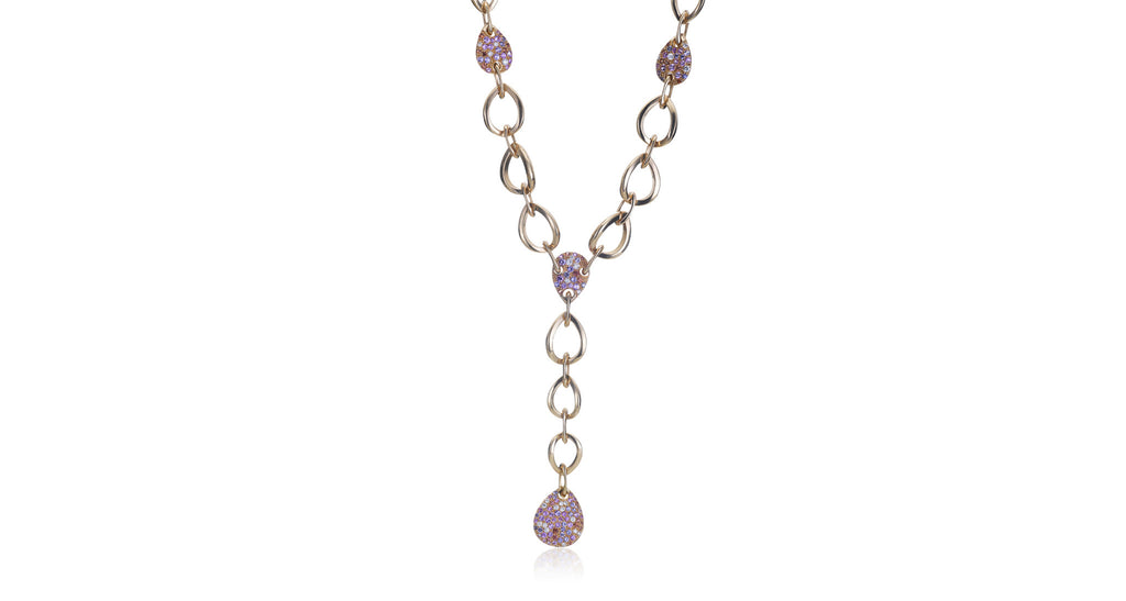 Multi-Colored Sapphire & Diamond Gold St. Tropez Necklace
