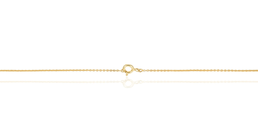 Gold & Diamond 3D Triangle Necklace