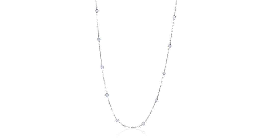 Estate Platinum 'Diamonds by the Yard' Necklace
