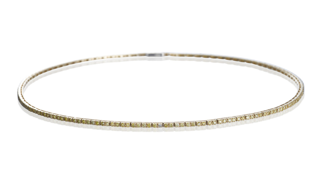 Estate Yellow Diamond Shoelace Necklace
