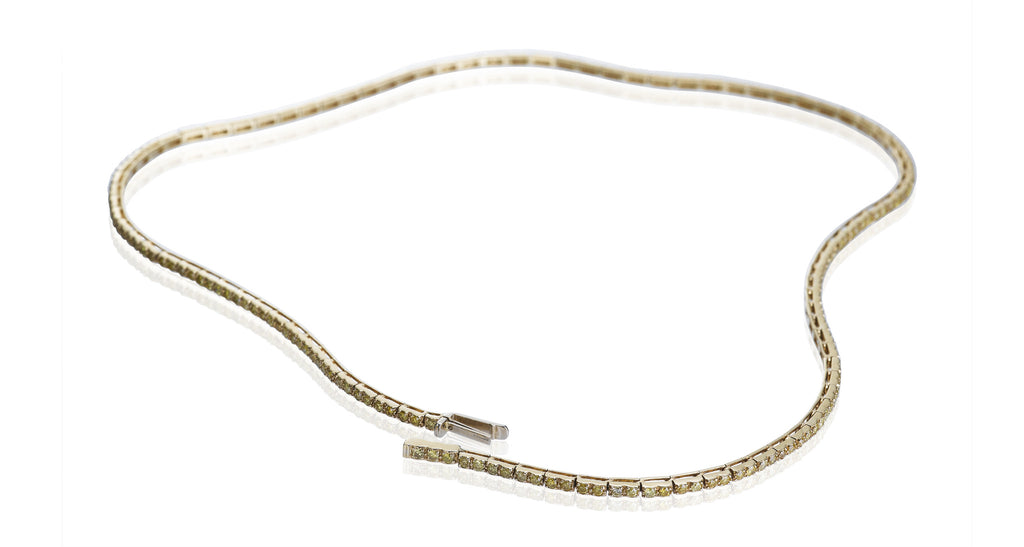 Yellow Diamond Shoelace Necklace