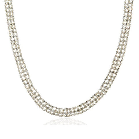 Belle Epoque Rope Style Diamond & Seed Pearl Beaded Necklace