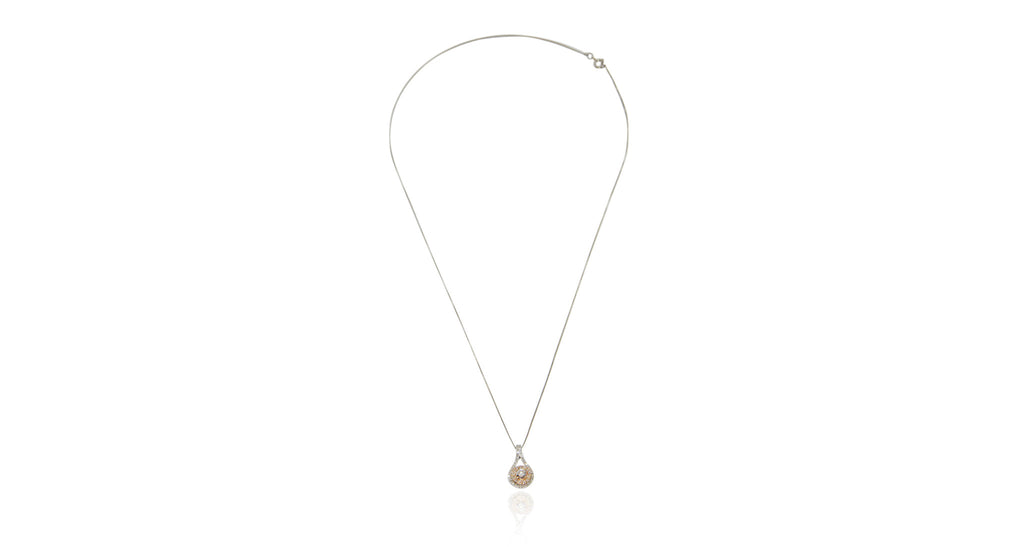 Two-Tone Gold & Diamond Pendant Necklace