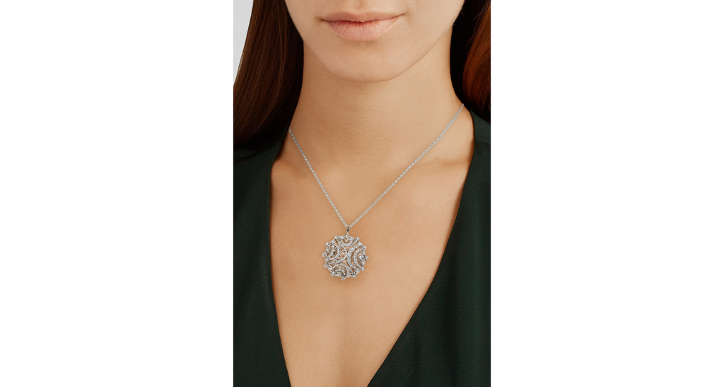 Champagne Sunset Collection Pendant Necklace with Diamonds & Pink Rose Gold