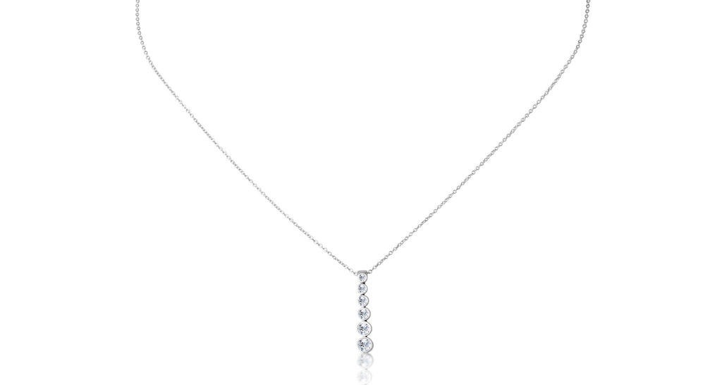Tiffany & Co Platinum Jazz Graduated Drop Diamond Necklace