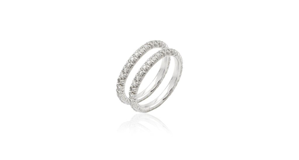 Stacking Diamond Petite Arbor Eternity Rings (set of 2)