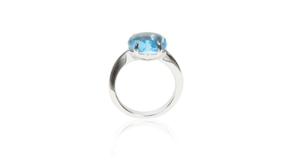 Sassi Blue Topaz Cabochon Ring