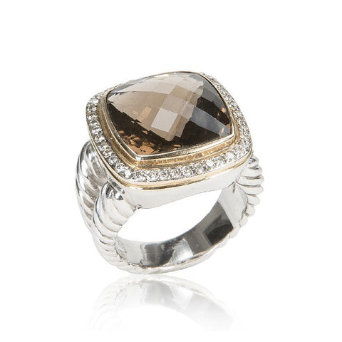 'Albion' Collection Smoky Quartz Ring