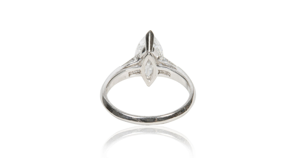 Italian Marquise Diamond & Platinum Engagement Ring