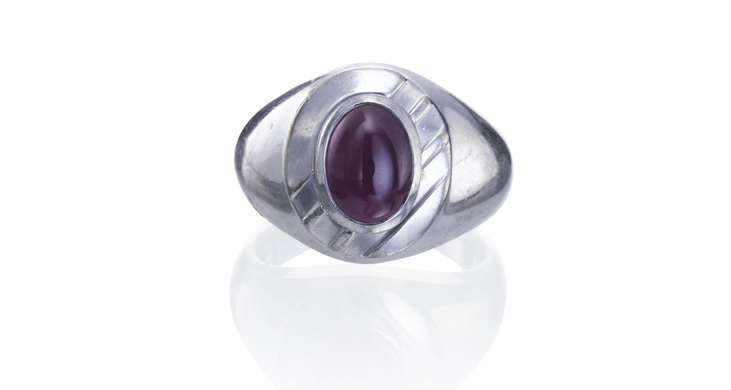 Burma Ruby Platinum Ring