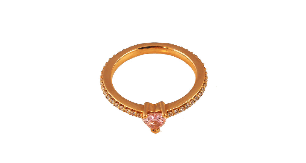 Estate Fancy Pink Diamond Heart Ring