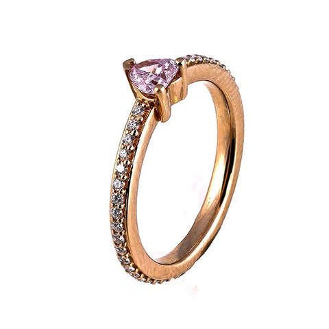 Fancy Pink Diamond Heart Ring