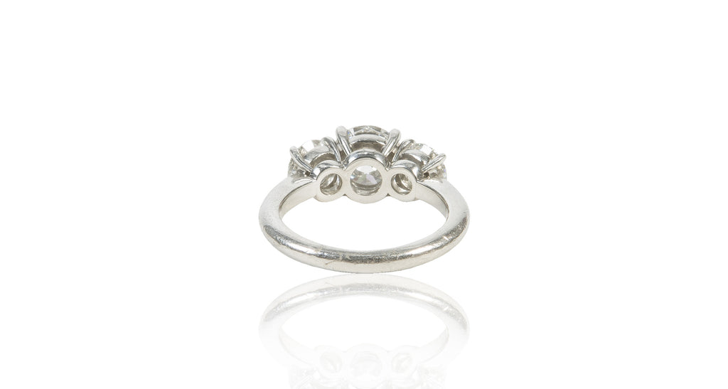 3 Stone Diamond & Platinum Ring (GIA)