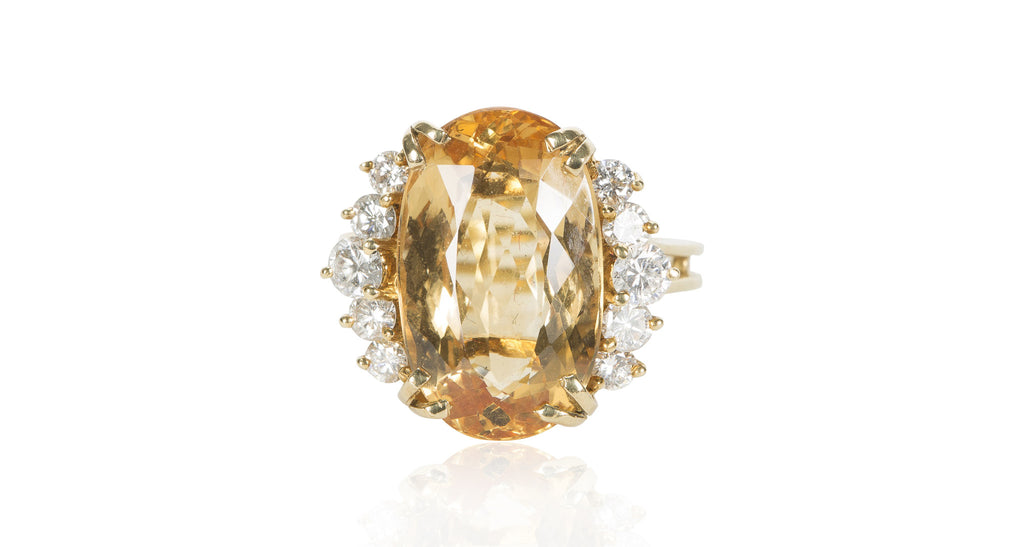 Winged Topaz Ring, Circa 1940