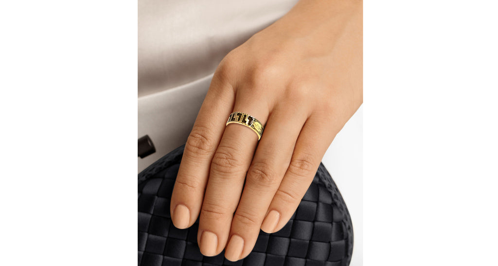 Braided Hair Yellow Gold Memorial Ring