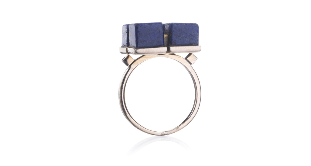 Lapis & Gold Quadrant Ring