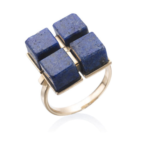 Estate Lapis & Gold Ring