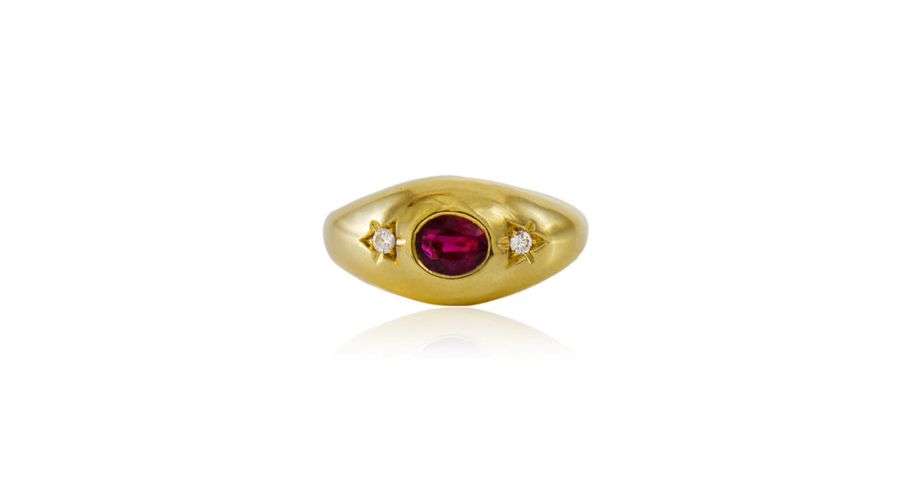 1960's Ruby & Diamond Ring